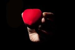 Boîte à bijoux de coeur Photo stock