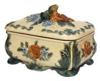 Boîte à bijoux en céramique, d'isolement Image libre de droits