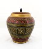 Boîte à bijoux peinte par antiquité en bois Handcrafted Photo stock