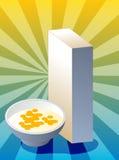 Boîte à céréale Image stock
