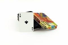 Boîte à cartes Images stock