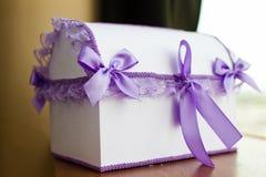 Boîte à cartes de mariage Images stock