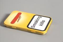 Boîte à cigares en métal Photos libres de droits