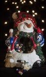 Boîte à musique de bonhomme de neige Photos stock