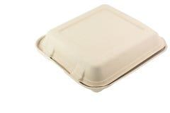 Boîte à nourriture de fibre d'usine Photographie stock libre de droits