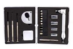 Boîte à outils avec des outils image stock