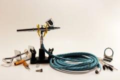 Boîte à outils d'aerographe Image libre de droits