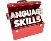 Boîte à outils d'outils de capacités linguistiques illustration stock