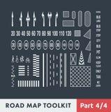 Boîte à outils de carte de route Photographie stock