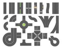 Boîte à outils de carte de route - ensemble d'éléments modernes de ville de vecteur illustration stock