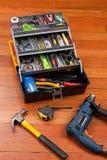 Boîte à outils en plastique Photo stock