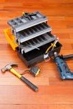 Boîte à outils en plastique Photographie stock