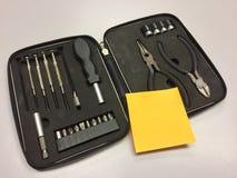 Boîte à outils et note collante Photo libre de droits