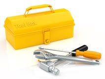 Boîte à outils et outil Photographie stock libre de droits