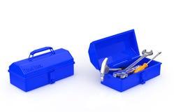 Boîte à outils et outil Photos stock