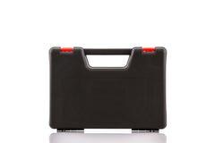 Boîte à outils noire, boîtier en plastique Photos libres de droits