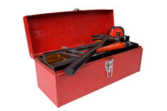 Boîte à outils ouverte Photo stock