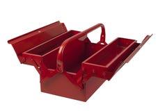 Boîte à outils rouge vide Photos libres de droits