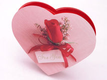Boîte à sucrerie de Valentines - se sont levés 2 Photographie stock libre de droits