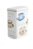 Boîte à thé d'isolement Photographie stock libre de droits