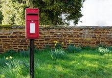Boîte anglaise traditionnelle de courrier Images libres de droits