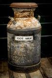 Boîte antique de lait Images libres de droits