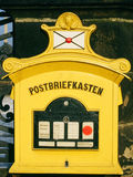 Boîte aux lettres allemande historique Images libres de droits