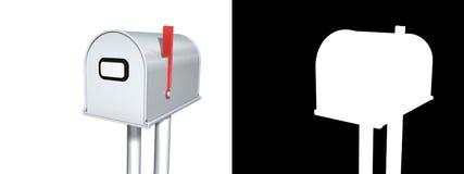 Boîte aux lettres avec l'alpha Photographie stock libre de droits
