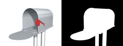 Boîte aux lettres avec l'alpha Image stock
