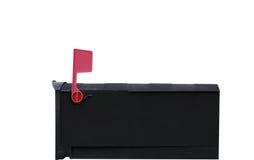 Boîte aux lettres avec l'indicateur vers le haut Photographie stock