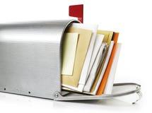 Boîte aux lettres avec la correspondance photographie stock
