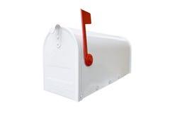 Boîte aux lettres blanche fermée Photos libres de droits