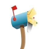 Boîte aux lettres bourrée illustration de vecteur