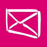 Boîte aux lettres d'enveloppe images stock
