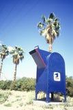 Boîte aux lettres dans le désert Image libre de droits