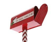 Boîte aux lettres de Noël Image libre de droits