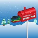Boîte aux lettres de Pôle Nord Photographie stock libre de droits