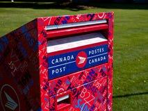 Boîte aux lettres de poteau du Canada Photos stock
