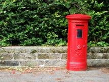 Boîte aux lettres de rouge du GR Images stock