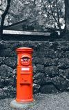 Boîte aux lettres de rouge de poteau de boîte aux lettres de poteau de Japonais photographie stock