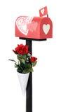 Boîte aux lettres de Valentine Image stock