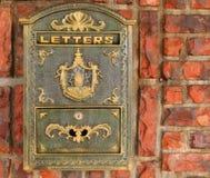 Boîte aux lettres de vieux type image libre de droits