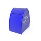 Boîte aux lettres des Etats-Unis d'isolement sur le blanc Image libre de droits