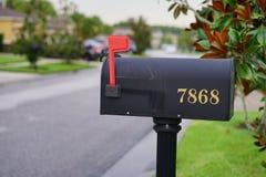 bo te aux lettres am ricaine avec l 39 indicateur rouge photo libre de droits image 8345685. Black Bedroom Furniture Sets. Home Design Ideas