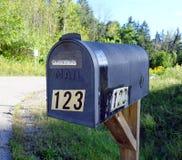 Boîte aux lettres en métal photographie stock libre de droits