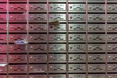 Boîte aux lettres en métal Photographie stock