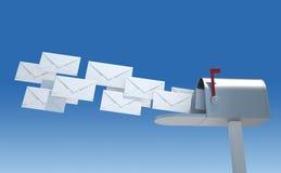 Boîte aux lettres et enveloppes Photographie stock libre de droits