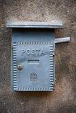 Boîte aux lettres grise Photos stock