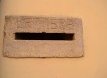 Boîte aux lettres italienne Photo libre de droits