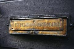 Boîte aux lettres italienne photo stock